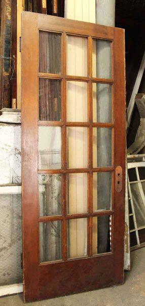Fifteen Glass Paneled Door