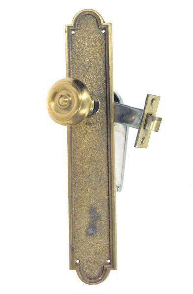 Brass Knob & Chrome Lever Set