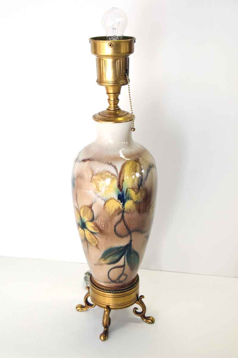 Vintage Floral Porcelain Table Lamp