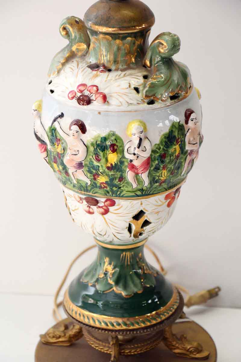 Figural Porcelain Colorful Table Lamp Olde Good Things