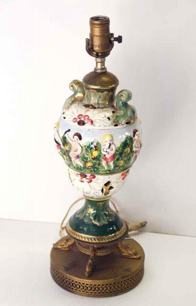 Figural Porcelain Colorful Table Lamp