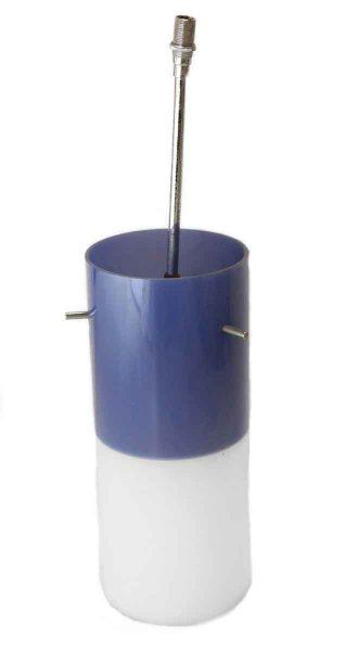 Blue & White Mid Century Plastic Pendant Light