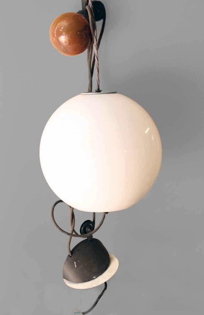 Mid Century Modern Glass Globe Light