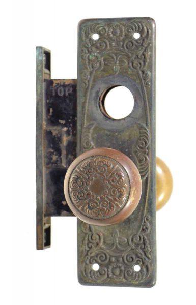 Lockwood Bronze Knob Lock Set