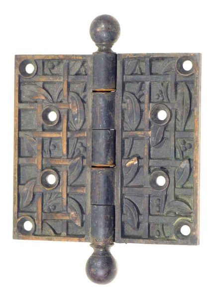 Bronze Decorative Hinge with Ball Finial