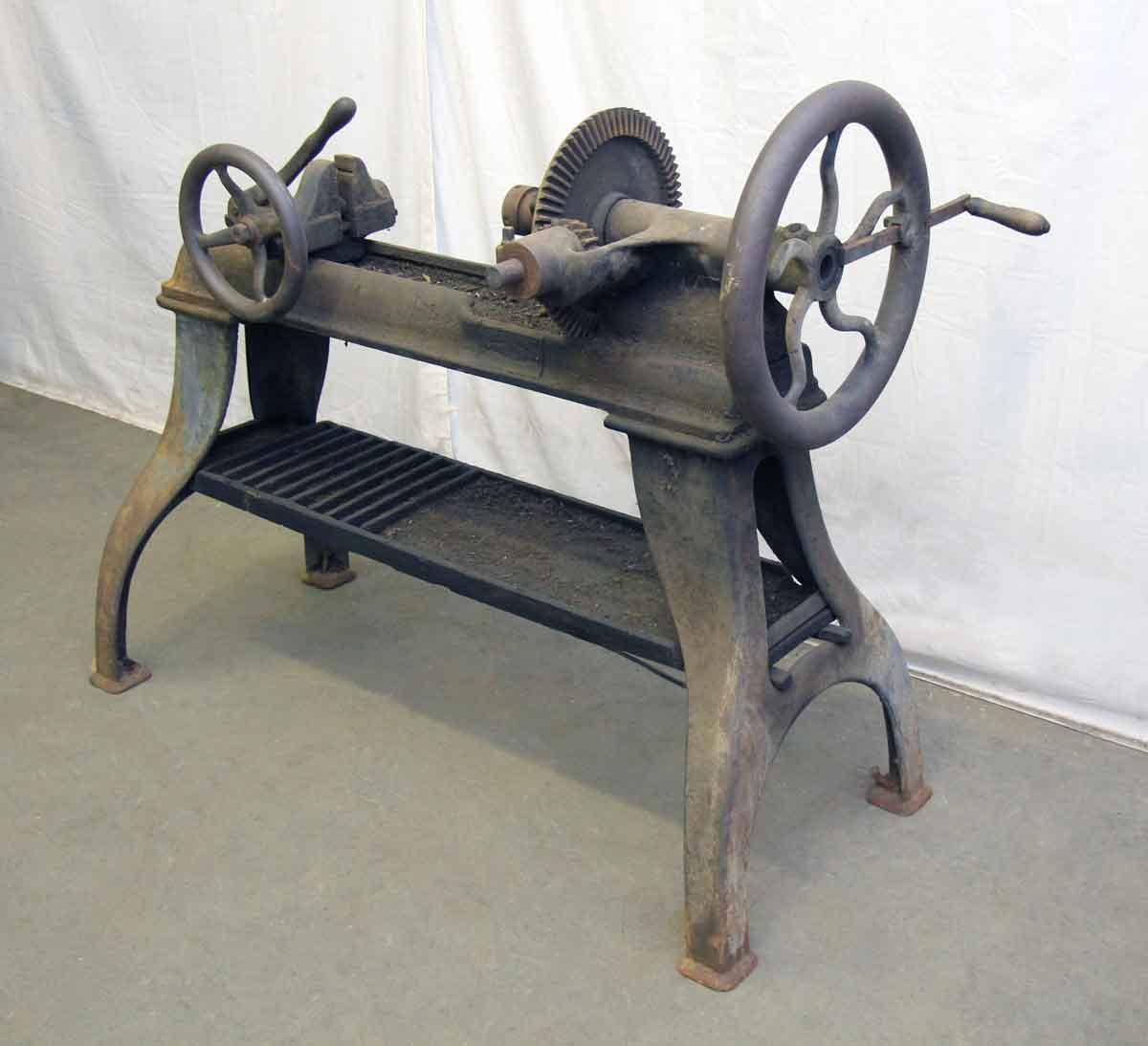 Antique Iron Lathe Machine Olde Good Things