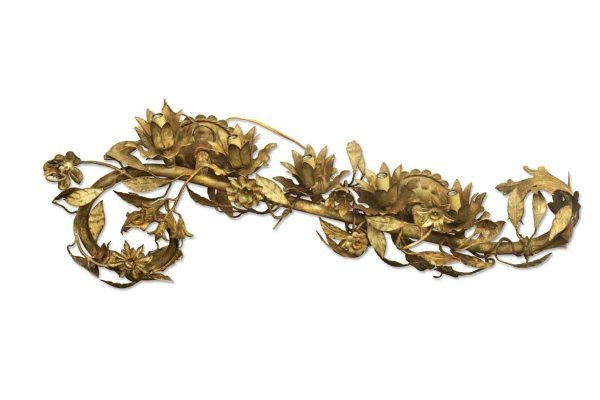 Set of Five Gilded Leaf Sconces