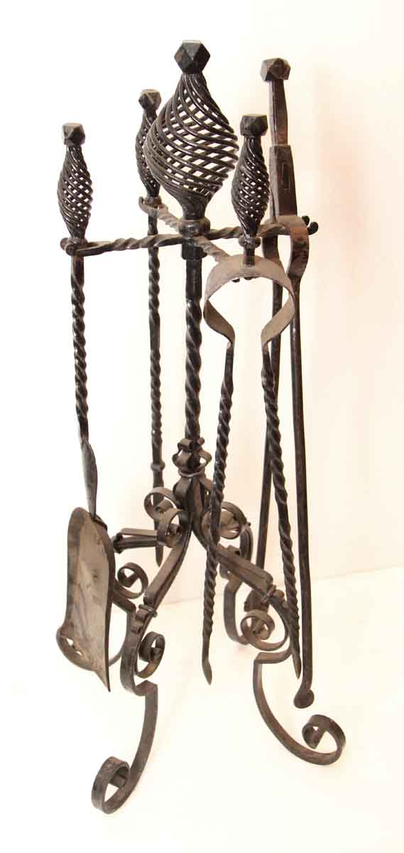Original Iron Fireplace Set
