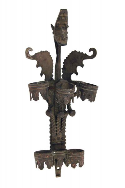 Pair of Bronze Dragon Sconces