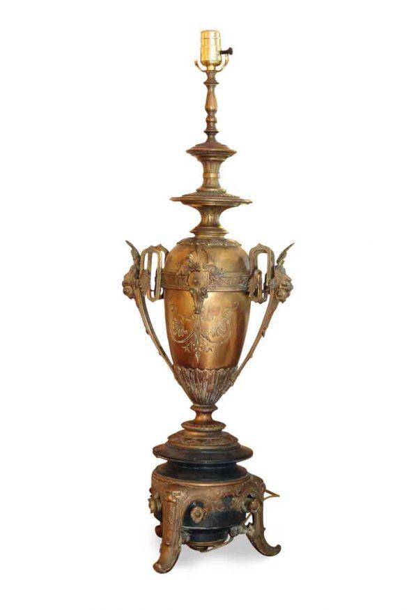 Pair of Brass Art Deco Urn Lamps