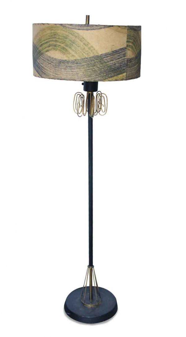 Mid Century Double Light Floor Lamp with Swivel Bulbs