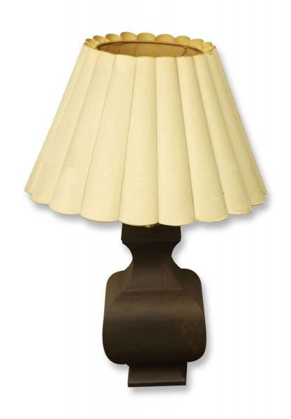 Brown Lamp with White Shade