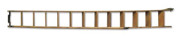 Vintage Oak Library Ladder