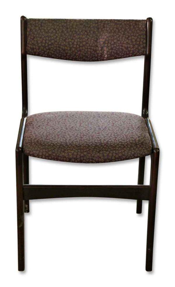 Set of Six Dark Wood Chairs