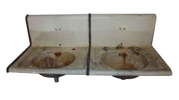 Antique Cast Iron Double Sinks