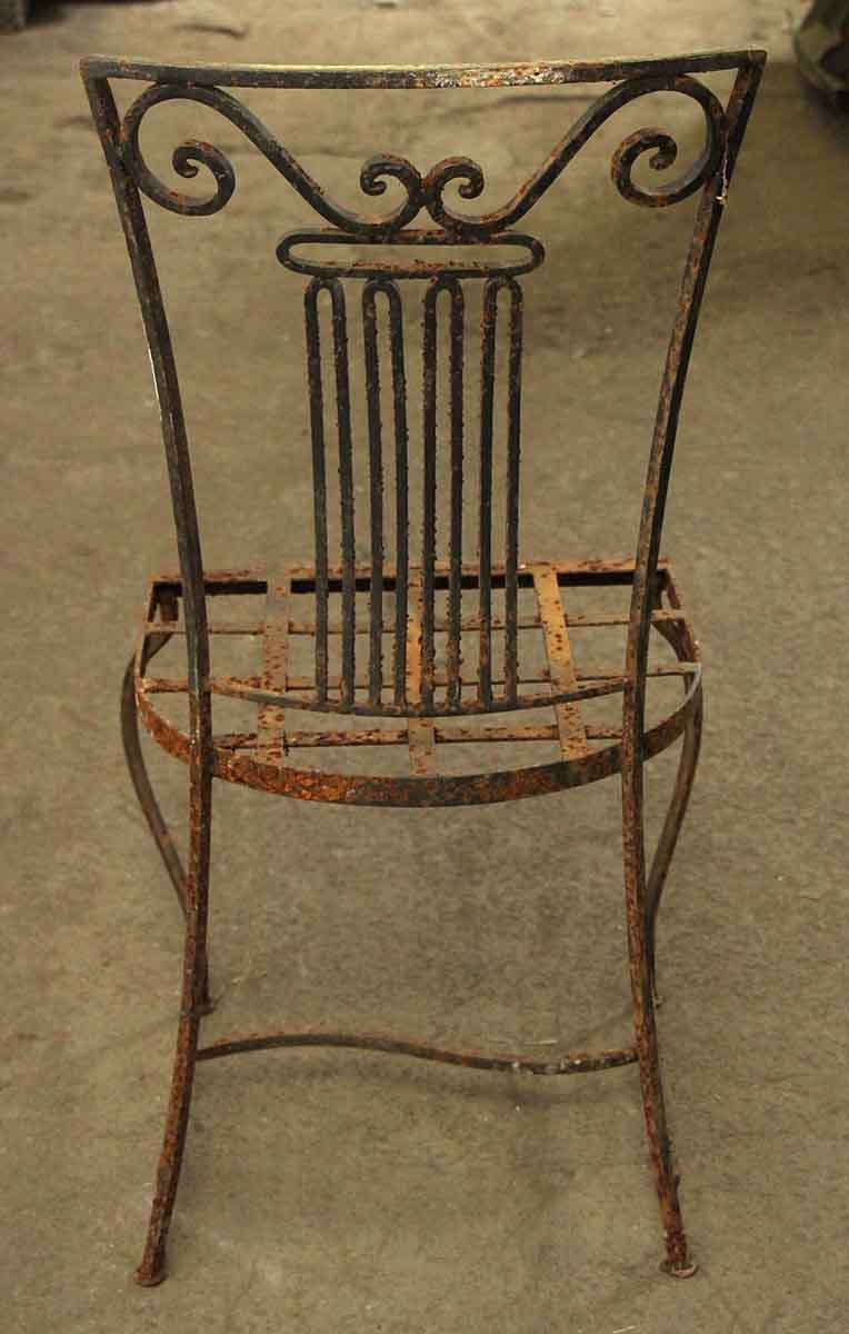 Vintage wrought iron garden chairs olde good things Vintage metal garden furniture