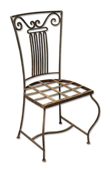 Vintage Wrought Iron Garden Chairs