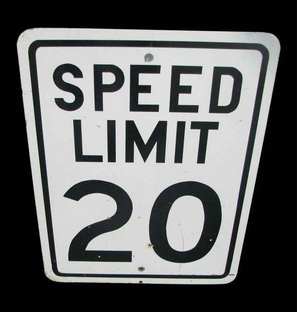 Original Metal Speed Limit Sign