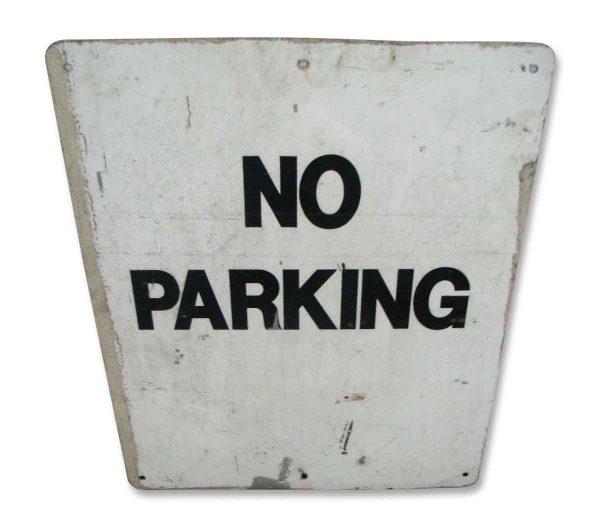 Worn No Parking Metal Sign