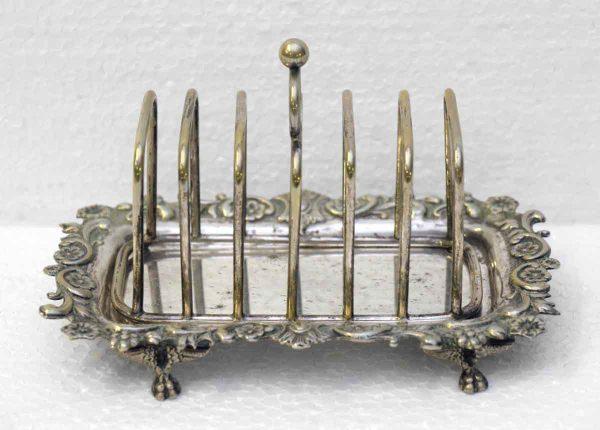 Decorative Silver Toast Tray