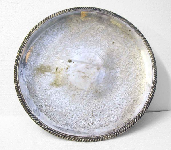 Pretty Decorative Metal Serving Plate