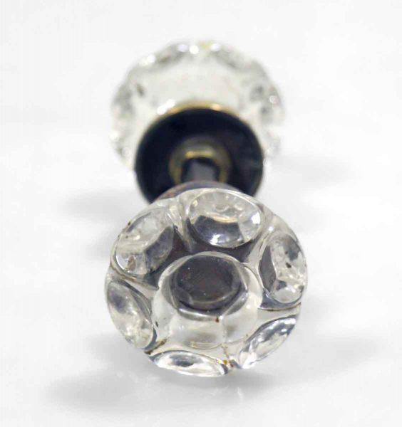 Vintage Punted Glass Knob Set