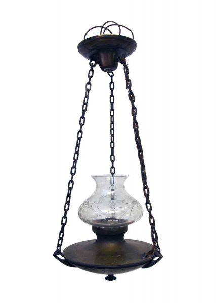Original Pendant Light with Cut Crystal Globe