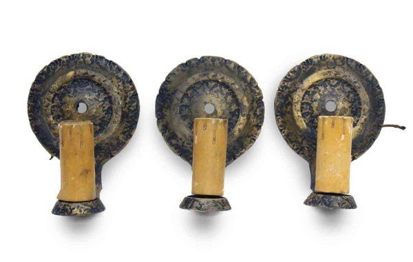 Set of Three Antique Sconces