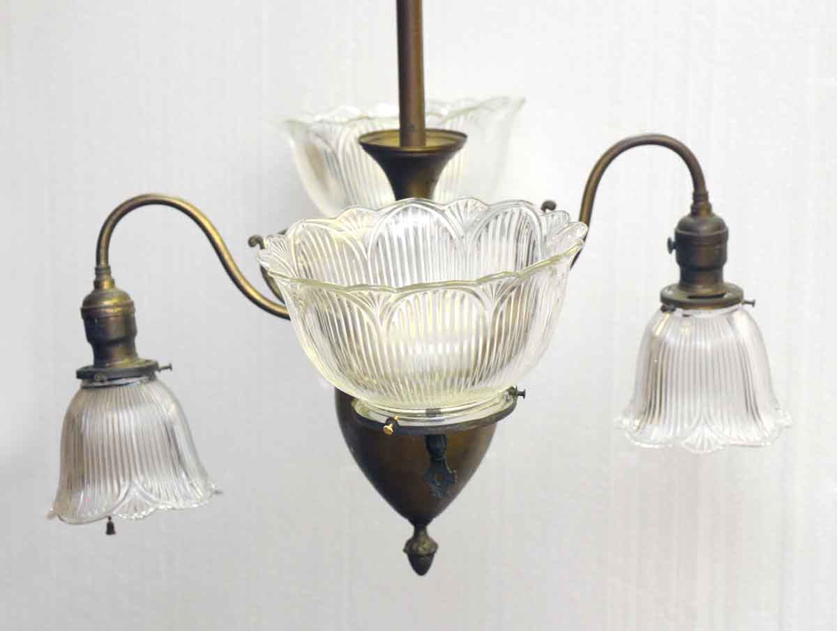 Antique Gas Chandelier from Late 1800s - Antique Gas Chandelier From Late 1800s Olde Good Things