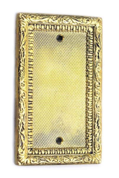 Gold Colored Ornate Blank Switch Cover