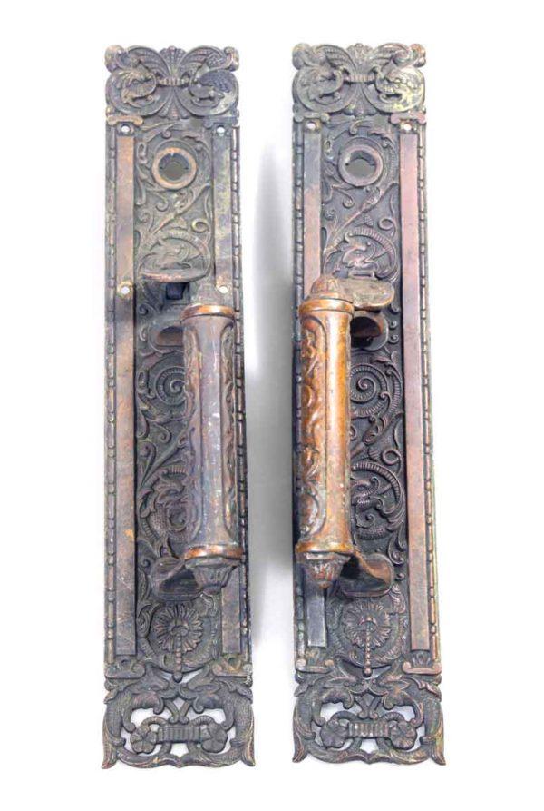 Highly Ornate Bronze Door Pulls