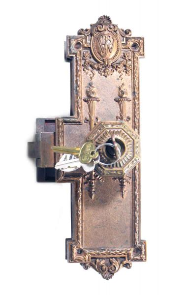 Ornate Copper Plated Entry Set