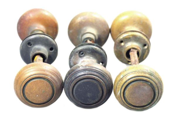 Concentric Circle Solid Cast Brass Knob Set
