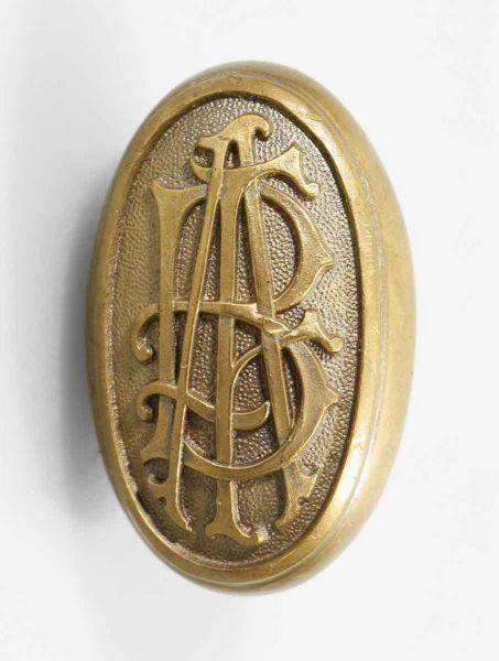 Oval Bronze Eba European American Bank Emblematic Knob