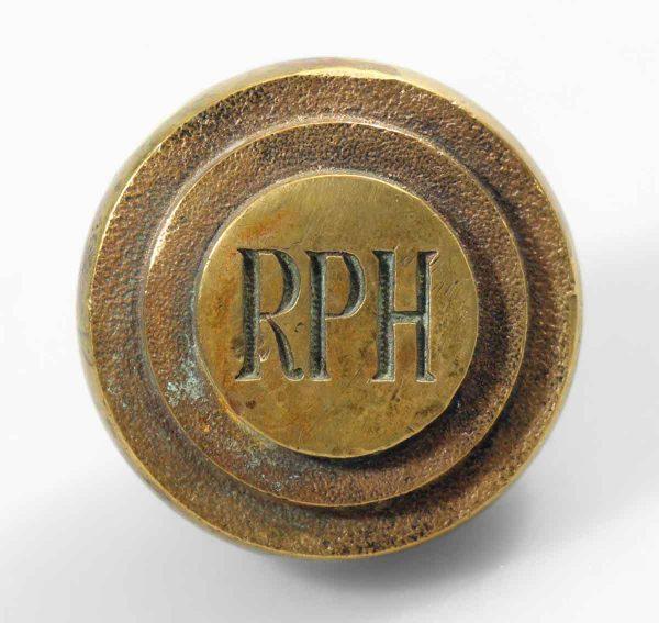 Rph Emblematic Brass Knob