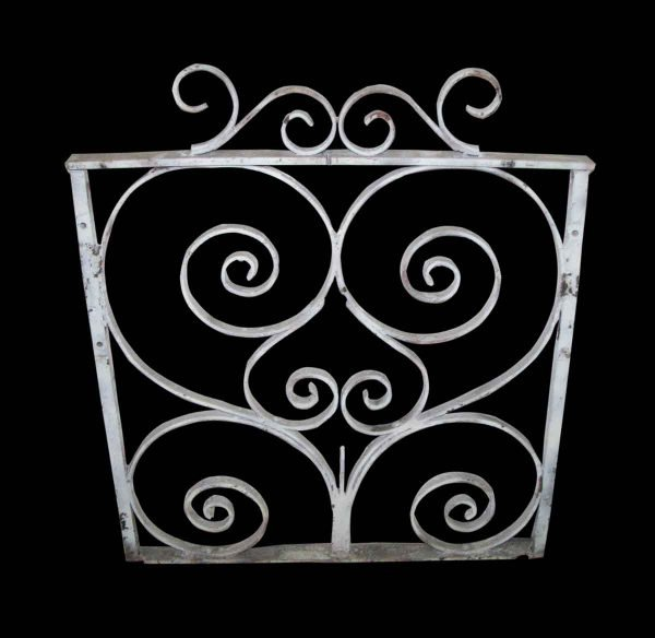 Pretty White Iron Garden Panel