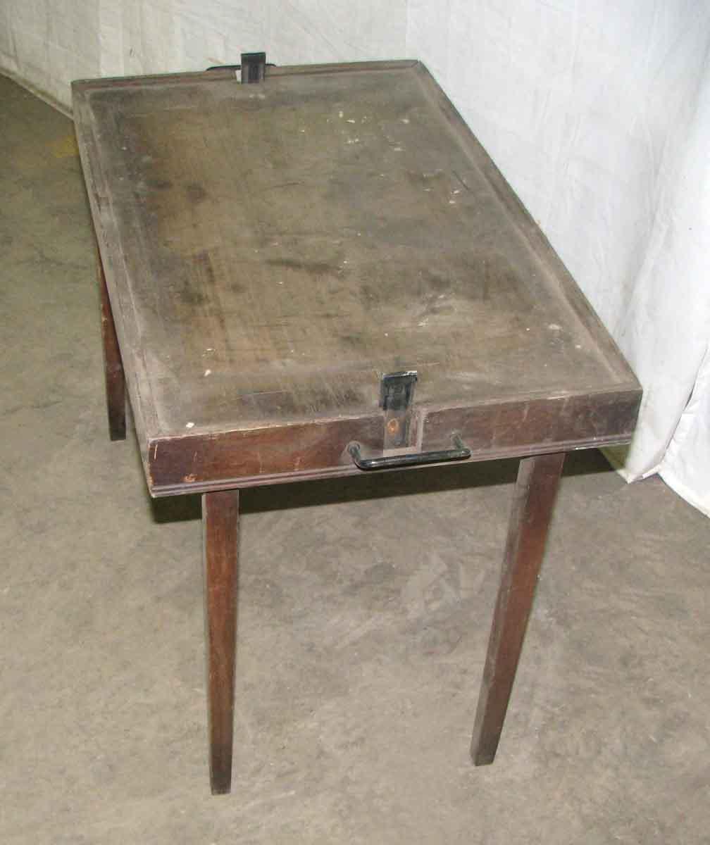 Unique Antique Furniture: Vintage Leather Card Table