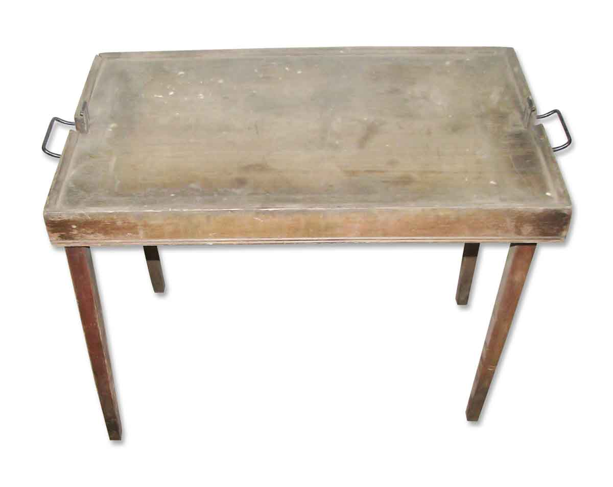 Vintage Leather Card Table