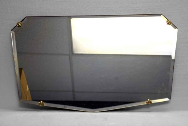 Unusual Small Geometric Shaped Beveled Frameless Mirror