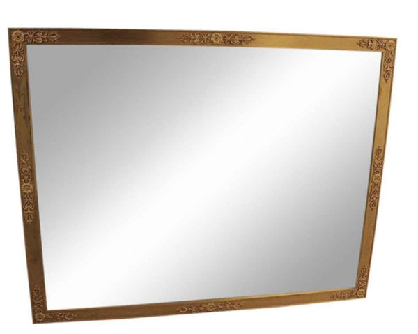 Metal Gold Gild Rectangle Mirror