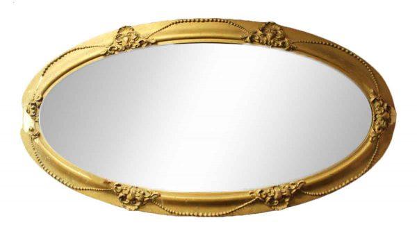 Oval Cracked Ceramic Mirror