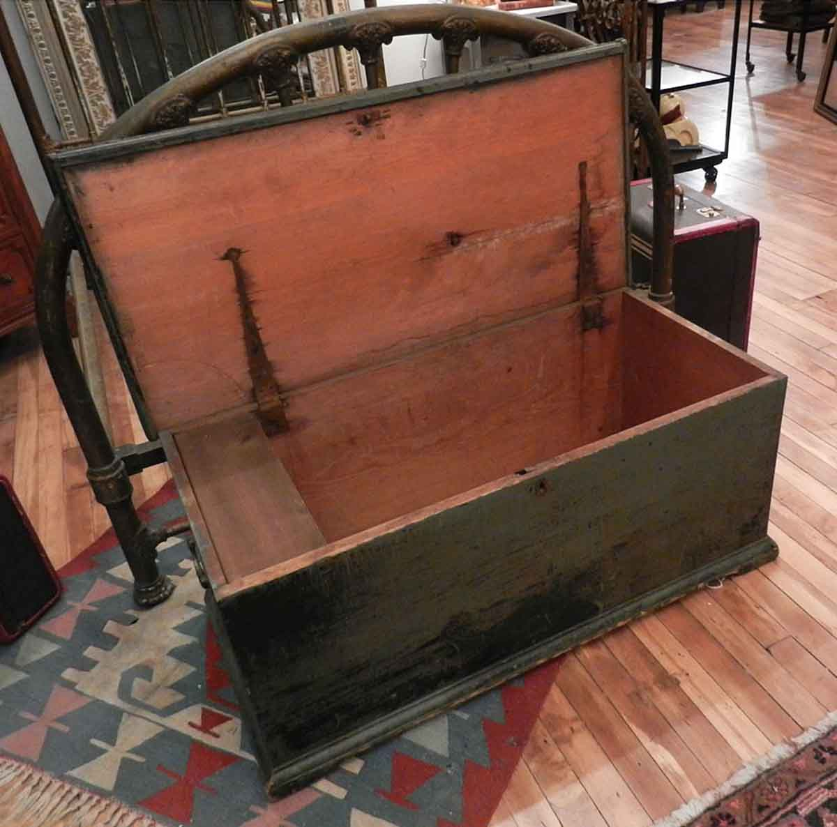 Vintage Wooden Chest ~ Antique wooden painted hope chest olde good things