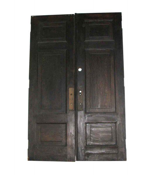 Huge Quarter Sawn Paneled Oak Pocket Doors