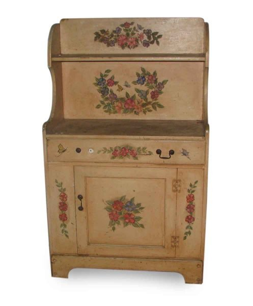 Antique Country Hutch with Hand Painted Detail