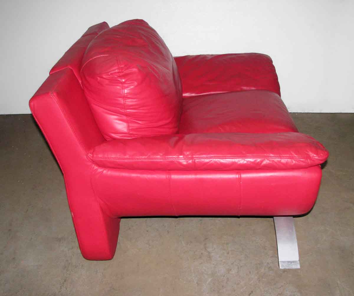 Red Leather Couch Amp Chair Set Olde Good Things