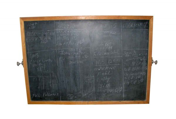 Vintage School Black Board or Slate Board in Frame