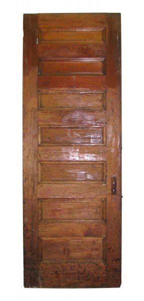 Tall Original Door with Seven Ascending Horizontal Panels