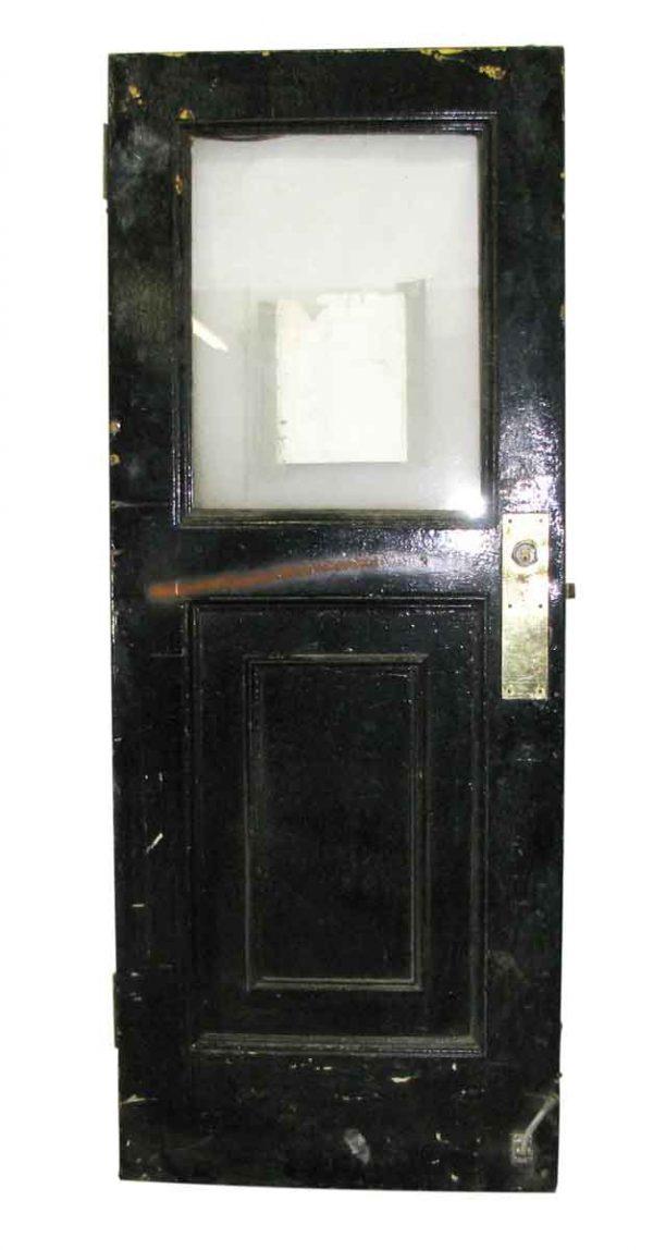 Black Metal Door with Graduated Panel & Glass Top