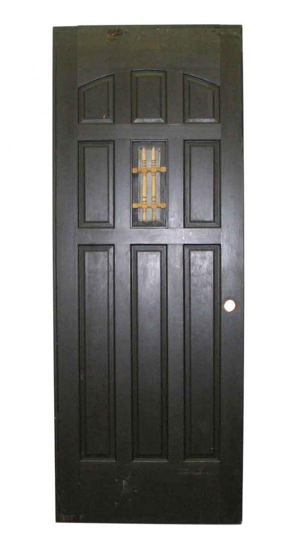 Arts & Crafts Entry Door with Nine Panels & Little Window