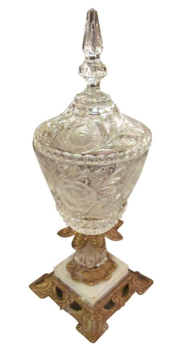 Crystal Vase with Ornate Base